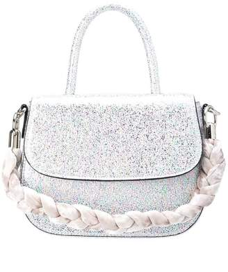 Christian Siriano metallic small tote bag