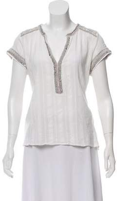 Calypso Embellished Cap Sleeve Top w/ Tags