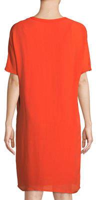 Tyler Boe Tania Short-Sleeve Silk Shirtdress
