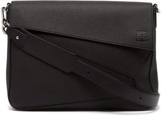 Loewe - Puzzle Leather Messenger Bag - Mens - Black