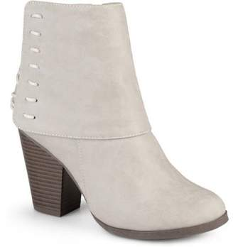 Co Brinley Women's High Heel Corset Lace Chunky Heel Ankle Boots