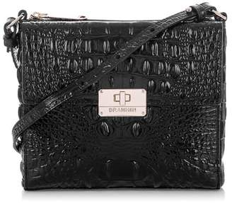 Brahmin Melbourne Manhattan Croc Embossed Leather Crossbody Bag