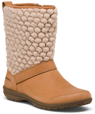 Full Grain Leather Cozy Boots