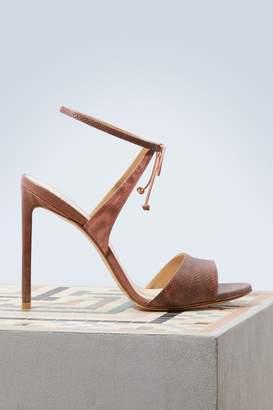 Francesco Russo Satin karung sandals