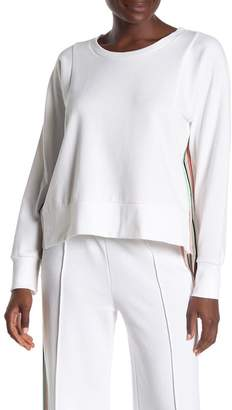 525 America Oversized Rainbow Trim High/Low Pullover