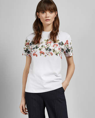 Ted Baker ROGAN Oracle printed cotton T-shirt