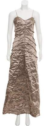 Nicole Miller Ruched Evening Dress