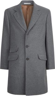 Brunello Cucinelli Single Breasted Wool Coat