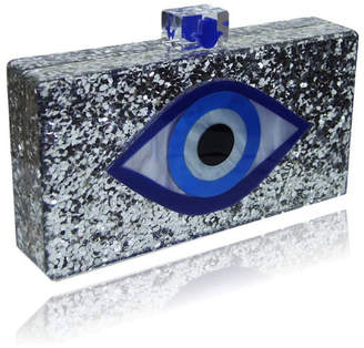 Milanblocks Evil Eye Lucite Acrylic Box Clutch by The Workshop at Macy