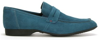 Roman Rock Rocky 100 Turquoise Suede Saddle Loafers