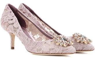 Dolce & Gabbana Bellucci embellished lace pumps