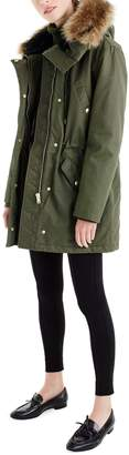 J.Crew Perfect Winter Parka with Faux Fur Trim