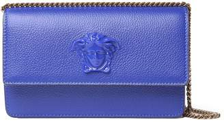 Versace Palazzo Pebbled-leather Shoulder Bag