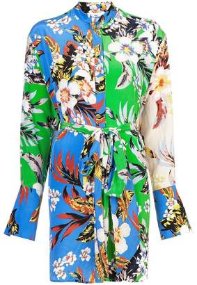 Diane von Furstenberg floral shirt dress