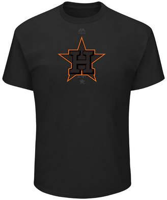 Majestic Men's Houston Astros Pitch Black Focus T-Shirt