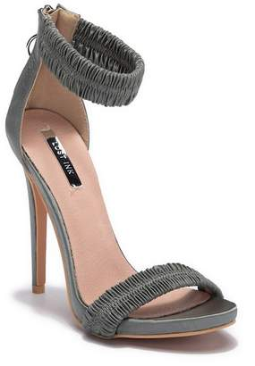 LOST INK Becky Ruched Stiletto Sandal