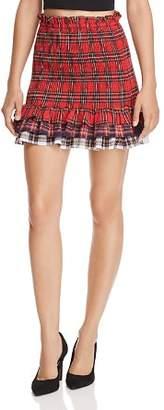 Endless Rose Smocked Plaid Skirt