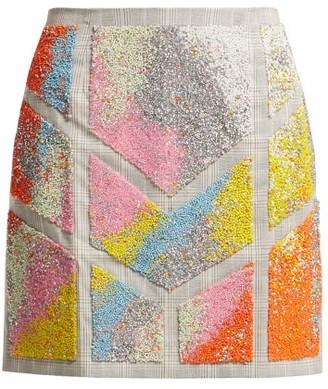 Germanier - Bead Embellished Twill Mini Skirt - Womens - Multi