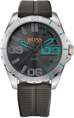 BOSS ORANGE Men's Berlin Gray Rubber Strap Watch 48mm 1513380