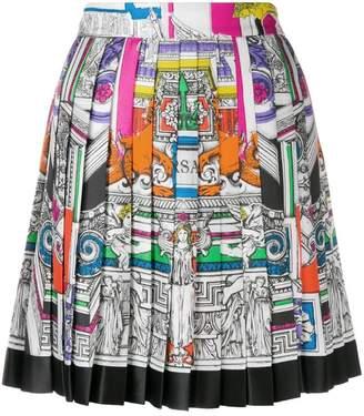 Versace Il Tempio pleated skirt