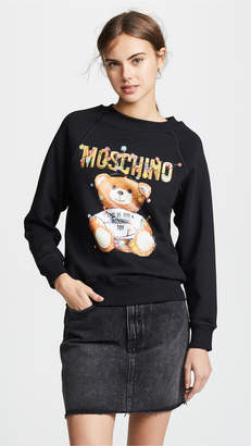 Moschino Christmas Lights Bear Sweatshirt