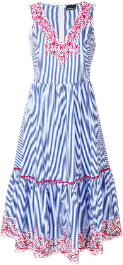Ermanno Ermanno Minidkleid mit Streifen