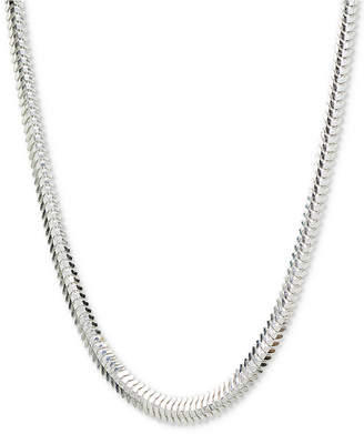 """Giani Bernini Flat Snake 18"""" Chain Necklace in Sterling Silver, Created for Macy's"""
