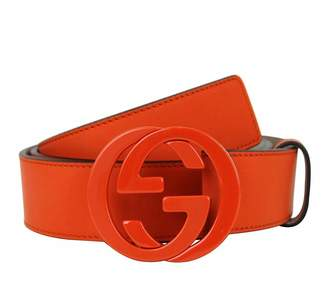 Gucci Men's Leather Interlocking G Buckle Belt 223891 7519 (110/44)