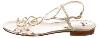 Christian Louboutin Metallic Slingback Sandals