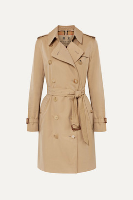 Burberry The Kensington Cotton-garbardine Trench Coat - Beige