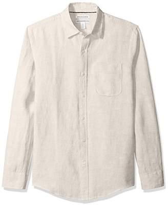 Amazon Essentials Men's Slim-Fit Long-Sleeve Linen Shirt