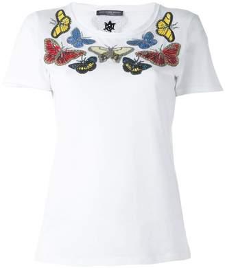 Alexander McQueen embellished butterfly T-shirt