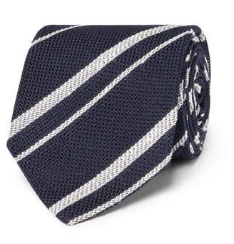 Drakes Drake's 8cm Striped Silk-Grenadine Tie