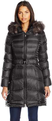 Dawn Levy 2 Cat II Down Coat with Fur Hood