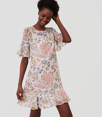 Shimmer Floral Flounce Dress $98 thestylecure.com