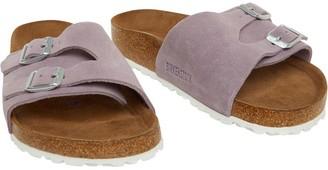 c127d8c47 Birkenstock Womens Vaduz Suede Soft Footbed Sandals Lavender