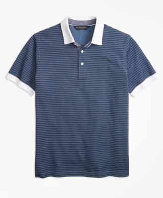 Brooks Brothers (ブルックス ブラザーズ) - コットン/ポリエステル ストライプ ラグビーシャツ