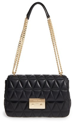 Michael Michael Kors Large Sloan Quilted Lambskin Leather Shoulder Bag - Black $328 thestylecure.com