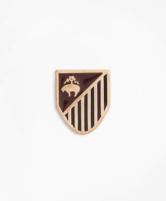 Brooks Brothers Gold-Tone Shield Lapel Pin