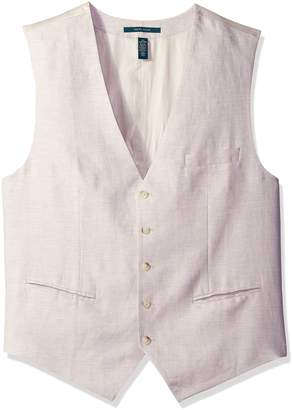 Perry Ellis Men's Big and Tall Linen Five-Button Vest