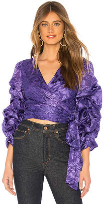 Alice + Olivia Dominica Wrap Top