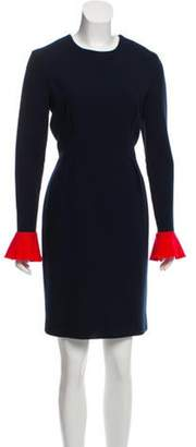 Roksanda Long Sleeve Knee-Length Dress blue Long Sleeve Knee-Length Dress