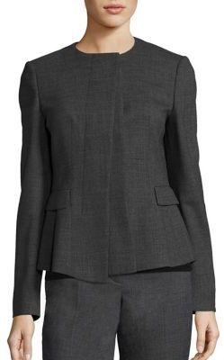 BOSS Jadela Sable Virgin Wool Business Jacket $625 thestylecure.com