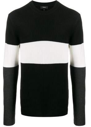 Theory tri-coloured jumper