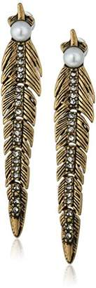 Rebecca Minkoff Feather Articulated Post Drop Earring