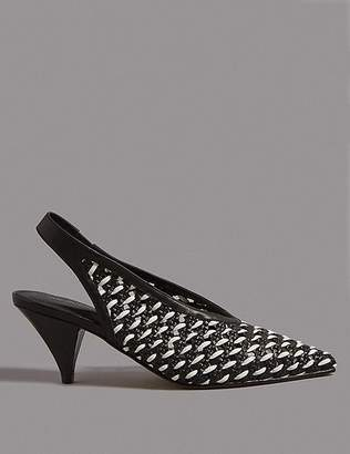 Marks and Spencer Leather Slingback Court Shoes