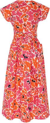 Isa Arfen Floral-Print Cotton Midi Dress