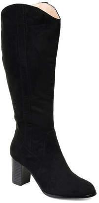Journee Collection Womens Jc Parrish-Xwc Dress Stacked Heel Zip Boots