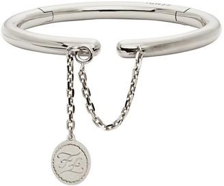 Fendi rigid palladium-coloured bracelet