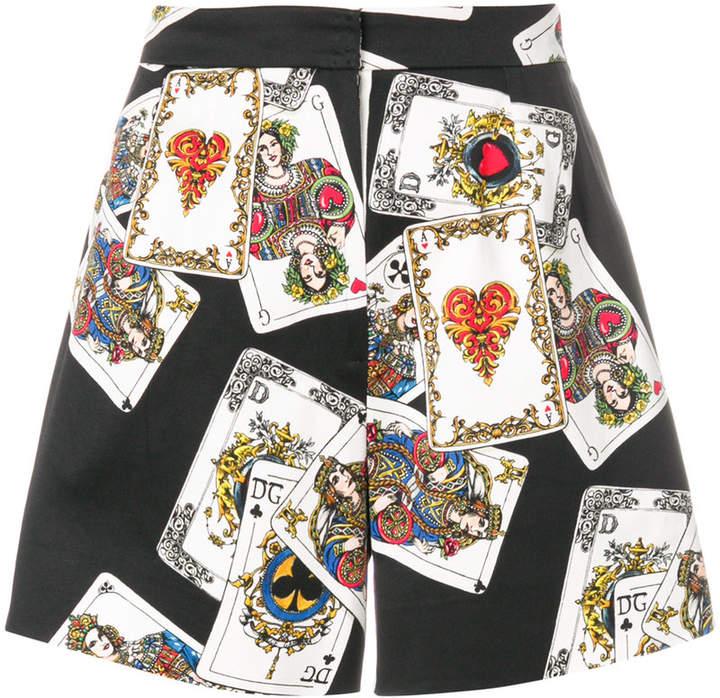 Shorts mit Karten-Print